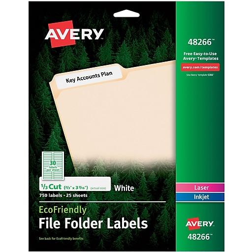 Avery 48266 ecofriendly white multipurpose file folder labels 750 httpsstaples 3ps7is saigontimesfo