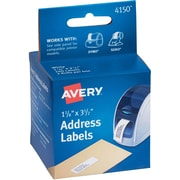 "Avery® 13978/4150 1-1/8"" x 3-1/2"" Label Printer Labels, White, 260 Labels"