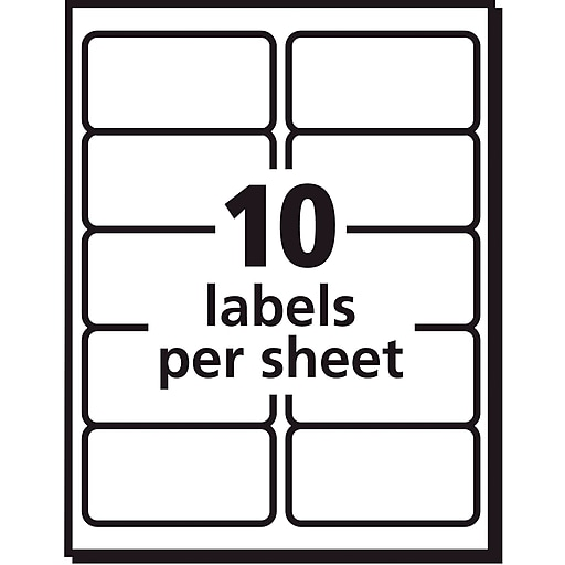Avery 8253 Color Printing Matte White Inkjet Shipping Labels 2 X