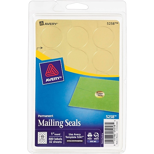 "Shop Staples For Avery® 5258 Gold Seal Label, 1"" Diameter"