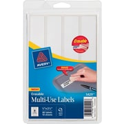 """Avery® 5429 White Erasable ID Labels, 7/8"""" x 2 7/8"""""""
