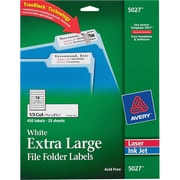 Avery® 5027 Extra-Large White Permanent File Folder Labels with TrueBlock™, 450/Pack