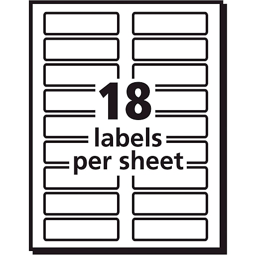 Avery 5026 Extra Large Assorted Colors Permanent File Folder Labels