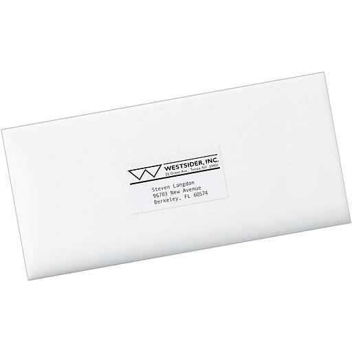 Avery White Copier Address Labels 1 12 X 2 1316 2100box
