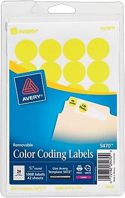 Avery® 5470 Round 3/4