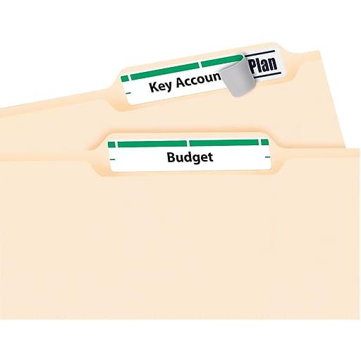 Avery 5866 Green Permanent File Folder Labels With Trueblock