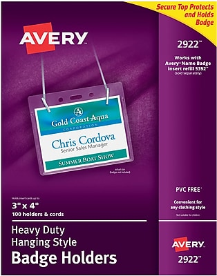 Avery® Badge Holders, 3