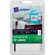 "Avery(R)  Self-Laminating ID Labels 00746, Handwrite, 3-3/4"" x 2-3/4"", Gray Border, Pack of 8"