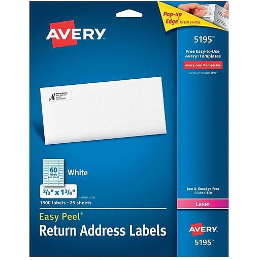Avery 5195 white laser return address labels with easy peel 23 httpsstaples 3ps7is saigontimesfo