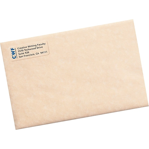 Avery 18695 Clear Inkjet Return Address Labels With Easy Peel 23
