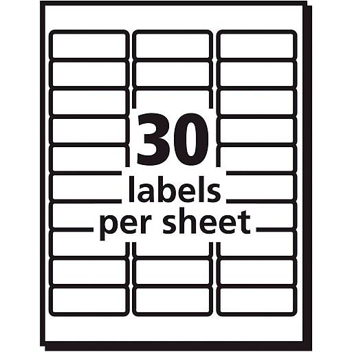 Avery 48160 Ecofriendly White Inkjetlaser Address Labels 1 X 2 5