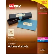 "Avery Pearlized Address Labels, 1"" x 2-5/8"", Pack of 240 (22837)"