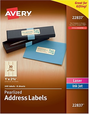 Avery Pearlized Address Labels, 1