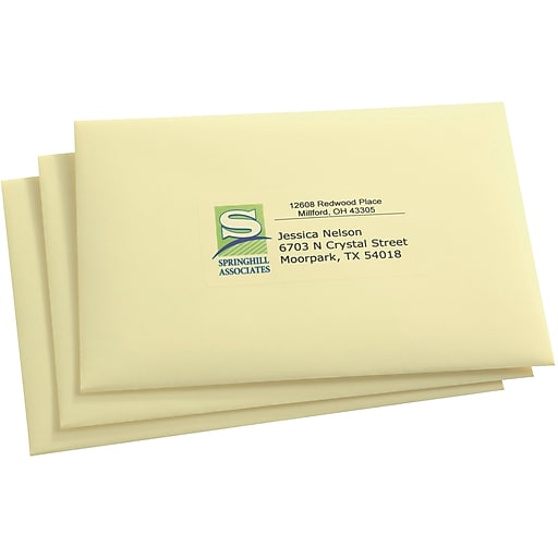 Avery 18663 Clear Inkjet Shipping Labels With Easy Peel 2 X 4