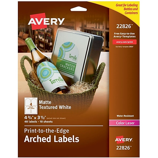 avery print to the edge water resistant textured matte white arched