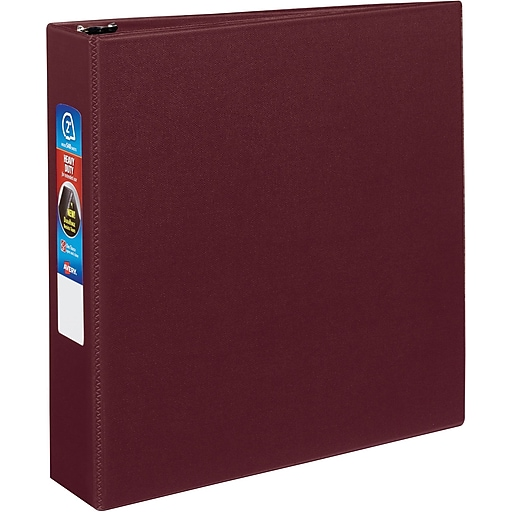 avery heavy duty 2 inch d 3 ring binder maroon 79 362 staples