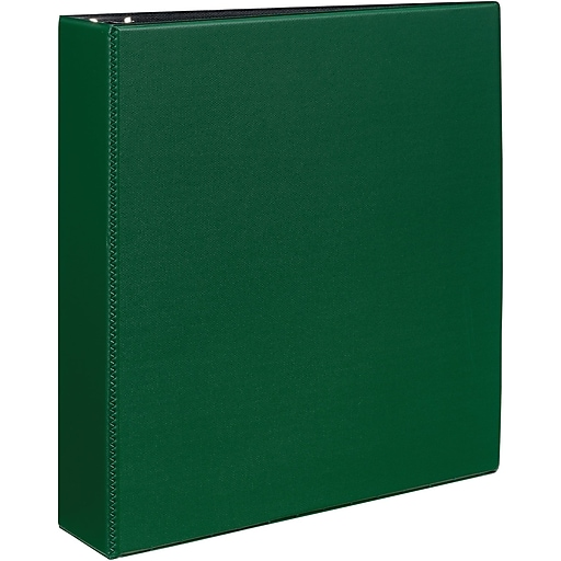 avery durable 2 inch slant d 3 ring binder green 27553 staples