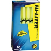 HI-LITER  Pen Style Highlighter, Chisel Tip, Fluorescent Yellow, Dozen