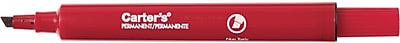 Avery Carter's Large Desk-Style Permanent Markers, Chisel Tip, Red, 12/Pk (27177)