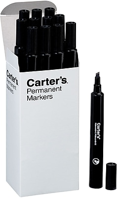 Avery Carter's Large Desk-Style Permanent Marker, Chisel Tip, Black, 12/Pk (27178)