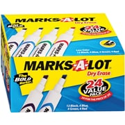 Avery Marks-A-Lot Chisel Point Dry-Erase Marker, Assorted, 24/Pack