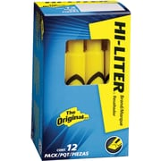 Avery HI LITER Desk Style Highlighters, Chisel Tip, Yellow, Dozen by