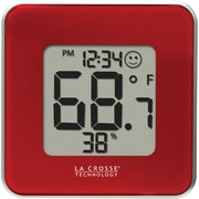 La Crosse Technology Digital Indoor Temperature and  Humidity Station, Red (302-604R)