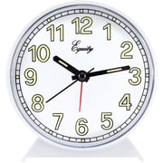 Equity by La Crosse Analog Quartz Alarm clock, White (14076)