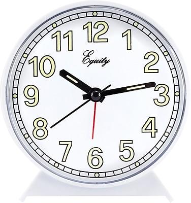 Equity by La Crosse Analog Quartz Alarm clock, White (14076)