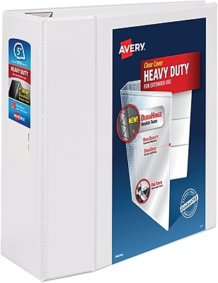 Avery One Touch EZD 5Inch D 3Ring View Binder White 79706