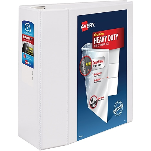 avery one touch ezd 5 inch d 3 ring view binder white 79 706