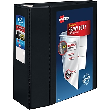 "avery 5"" heavy-duty view binder with one touch™ ezd rings, black, Presentation templates"