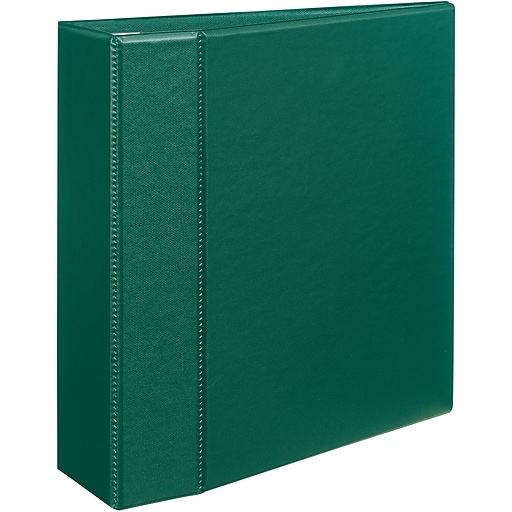 avery heavy duty 4 inch d 3 ring binder green 79 784 staples