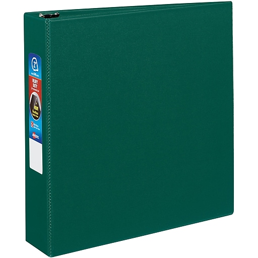avery heavy duty 2 inch ezd 3 ring non view binder green 79 782
