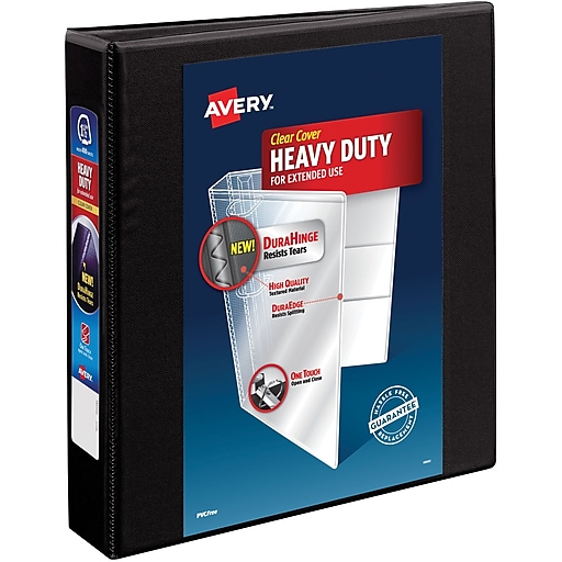 avery 1 1 2 heavy duty view binder with one touch ezd rings