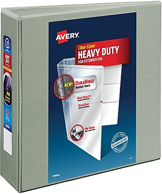 Avery® Heavy-Duty View Binder with Locking EZD™ Rings, 11 x 8 1/2, View, Each (79403)