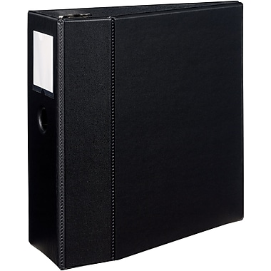 Avery Durable EZD™ Ring Binder With Label Holder, Black, 1,050-Sheet Capacity, 5