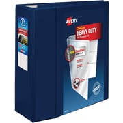 Avery Heavy-Duty One-Touch EZD 5-Inch 3-Ring View Binder, Navy Blue (79806)