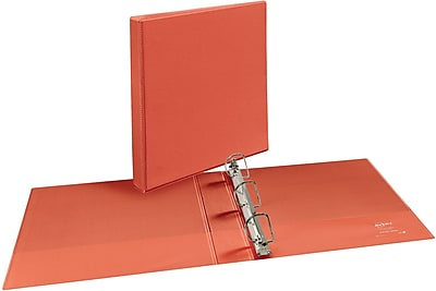 Avery Durable 1.5-Inch Slant D 3-Ring View Binder, Bright Orange (34158)