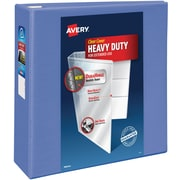 "Avery Heavy-Duty View Binder with 4"" One Touch EZD Rings, Periwinkle (79329)"