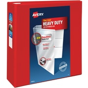 "4"" Avery® Heavy-Duty View Binders with One Touch™ EZD® Rings,Red"