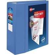 """Avery Heavy-Duty View Binder with 5"""" One Touch EZD Rings, Periwinkle (79330)"""