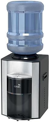 """""Oasis Onyx Counter Top Hot N' Cold Top Load Commercial Grade Bottle Water Dispenser, 12 1/2""""""""W x 14""""""""D x 17 7/8""""""""H"""""" 2600523"