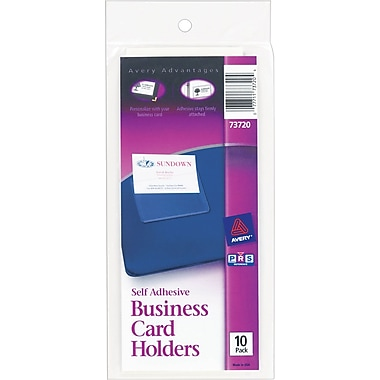 3 ring binder business card holder avery self adhesive standard 3 ring business card holders clear 73720 colourmoves