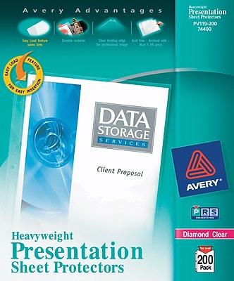 Avery® Heavyweight Presentation Sheet Protectors 200/Pack (74400)