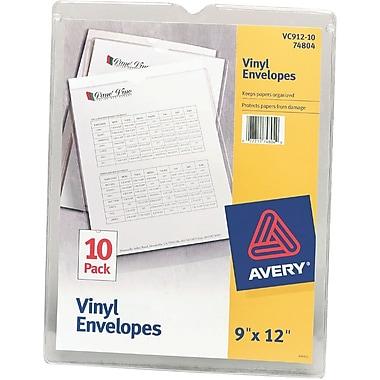 Avery(R) Clear Vinyl Envelopes 74804, 9