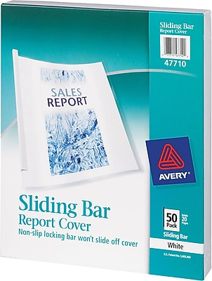 Avery® 47710 Sliding Bar Report Cover, Clear