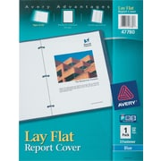 Avery® Lay-Flat Clear-Front Report Cover, Blue