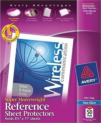 Avery® Sheet Protectors, Super Heavyweight Polypropylene, 50/Box, Non Glare