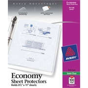Avery® Sheet Protectors, Lightweight Polypropylene, 100/Box, Semi-Clear